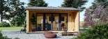Insulated Garden Office TINA 4m x 4m (13x13 ft) Twin Skin visualization 2
