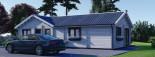 Insulated Residential Log Cabin PAULA 14.5m x 13m (48x43 ft) Building Reg Friendly visualization 7
