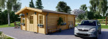 Residential Log Cabin DIJON 6.6m x 7.8m (22x26 ft) 44 mm visualization 5
