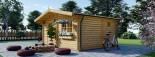 Insulated Log Cabin NINA 5m x 5m (16x16 ft) Twin Skin visualization 4