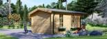 Log Cabin KING 4m x 5m (13x16 ft) 44 mm visualization 6