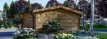 Insulated log cabin WISSOUS 5m x 5m (17' x 17') TwinSkin visualization 6