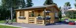 Log Cabin OLIVIA 6m x 6m (20x20) 44 mm visualization 8