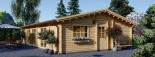 Insulated Log Cabin House JULIA 13.6m x 7.6m (45x25 ft) Twin Skin visualization 8