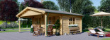 Insulated Log Cabin CAMILA 6m x 6m (20x20 ft) Twin Skin visualization 1