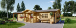 Residential Log Cabin DONNA 12.5m x 6m (41x20 ft) 44 mm visualization 2