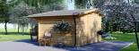 Garden Log Cabin BENINGTON 4.5m x 3m (15x10 ft) 34 mm visualization 4