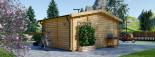 Insulated Log Cabin NINA 5m x 5m (16x16 ft) Twin Skin visualization 5