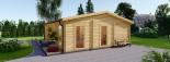 Insulated Garden Studio MILA 8m x 7m (26x23 ft) Twin Skin visualization 3