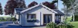Insulated Residential Log Cabin PAULA 14.5m x 13m (48x43 ft) Building Reg Friendly visualization 8
