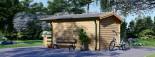 Insulated Log Cabin KING 4m x 5m (13x16 ft) Twin Skin visualization 4