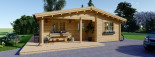 Log Cabin House LINDA 8m x 12m (26x40 ft) 66 mm visualization 8