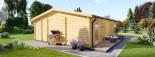 Insulated Garden Studio MILA 8m x 7m (26x23 ft) Building Reg Friendly visualization 6