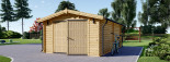 Single Wooden Garage 4m x 6m (13x20 ft) 44 mm visualization 4