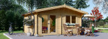 Cabin WISSOUS 5m x 5m (16x16 ft) 44 mm visualization 2