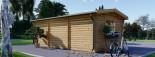 Log Cabin NORA 7m x 3.5m (23x11 ft) 44 mm visualization 6