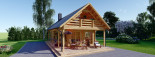 Log Cabin House AURA 6m x 12m (20x40 ft) 66 mm visualization 3