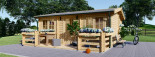 Insulated Residential Log Cabin ALTURA 6m x 6.7m (20x22 ft) Twin Skin visualization 3