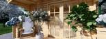 Insulated Log Cabin KING 4m x 5m (13x16 ft) Twin Skin visualization 7