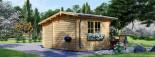 Garden Log Cabin BENINGTON 4.5m x 3m (15x10 ft) 34 mm visualization 3