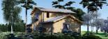 Log Cabin House HOLLAND PLUS 13.5m x 8.5m (44x28 ft) 66 mm visualization 5