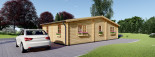 Residential Log Cabin FILL 10.5m x 6m (35x20 ft) 44 mm visualization 3