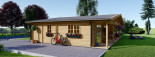 Insulated Log Cabin House RIVIERA 13m x 9m (43x30 ft) Building Reg Friendly visualization 9