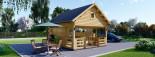 Log Cabin ALBI 5.6m x 5m (18x16 ft) 44 mm visualization 1