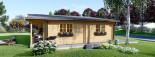 Log Cabin House RIVIERA 13m x 9m (43x30 ft) 66 mm visualization 5