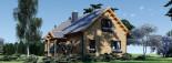 Log Cabin House VERA 11.9m x 9.7m (39x32 ft) 66 mm visualization 5