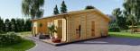 Insulated Garden Studio MILA 8m x 7m (26x23 ft) Twin Skin visualization 2