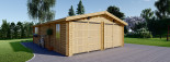 Double Wooden Garage 6m x 9m (20x30 ft) 66 mm visualization 3