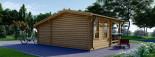 Insulated Log Cabin ISLA 6m x 5m (20x16 ft) Twin Skin visualization 4
