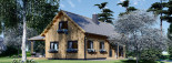 Insulated Log Cabin House VERA 11.9m x 9.7m (39x32 ft) Building Reg Friendly visualization 8