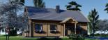 Log Cabin House VERA 11.9m x 9.7m (39x32 ft) 66 mm visualization 7