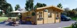 Residential Log Cabin DIJON 6.6m x 7.8m (22x26 ft) 44 mm visualization 1