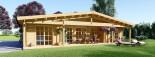 Log Cabin House RIVIERA 13m x 9m (43x30 ft) 66 mm visualization 2