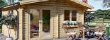 Insulated log cabin WISSOUS 5m x 5m (17' x 17') TwinSkin visualization 9