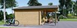 Insulated Log Cabin CAMILA 6m x 6m (20x20 ft) Twin Skin visualization 6