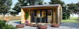 Insulated Garden Office TINA 4m x 4m (13x13 ft) Twin Skin visualization 3