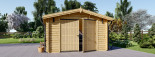 Single Wooden Garage 4m x 6m (13x20 ft) 44 mm visualization 3