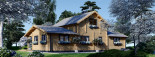 Insulated Log Cabin House HOLLAND 13.5m x 7.5m (44x25 ft) Twin Skin visualization 6