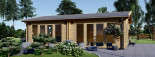 Garden Studio MARINA 8m x 6m (26x20 ft) 44 mm visualization 2