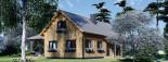 Log Cabin House VERA 11.9m x 9.7m (39x32 ft) 66 mm visualization 8