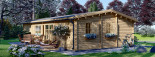 Residential Log Cabin UZES 10.2m x 7m (34x23 ft) 44 mm visualization 6