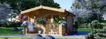 Insulated Log Cabin KING 4m x 5m (13x16 ft) Twin Skin visualization 3