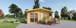 Insulated Log Cabin WISSOUS 5m x 6m (16x20 ft) Twin Skin visualization 4