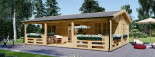 Insulated Residential Log Cabin AMELIA 9m x 6m (30x20 ft) Building Reg Friendly visualization 2
