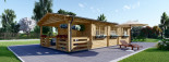 Insulated Residential Cabin HYMER 5.2m x 10.2m (17x34 ft) Building Reg Friendly visualization 2