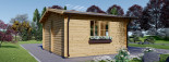 Insulated Log Cabin LILLE 4m x 5m (13x16 ft) Twin Skin visualization 5